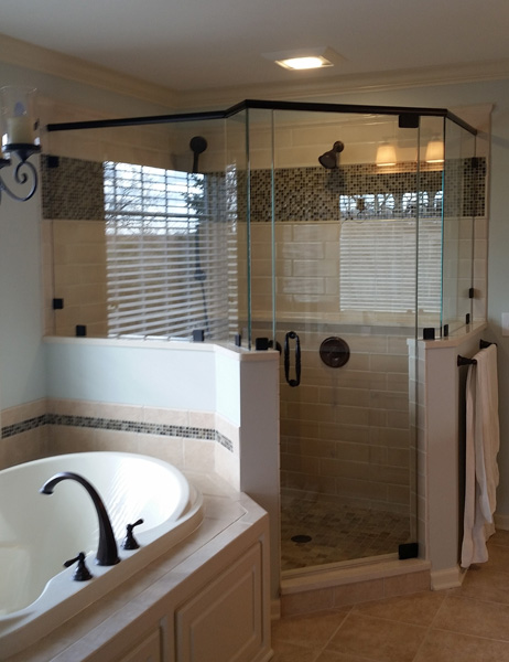 Frameless Neo-Angle Shower Enclosure | Skill Glass Company, Inc.